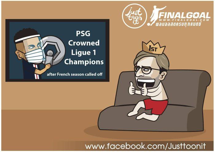 Biếm Họa 24h Liverpool Mừng Thầm Khi Psg Vo địch Ligue 1
