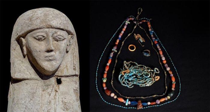 """Phát hiện kho báu """"khủng"""" trong quan tài chứa xác ướp thiếu nữ khoảng 3.500 tuổi"""