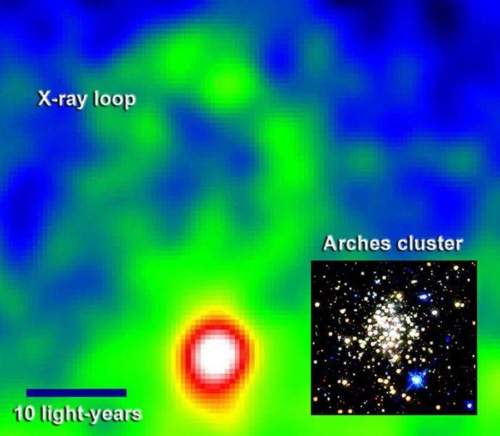 Phát hiện vòng X-quang gần trung tâm thiên hà Milky Way