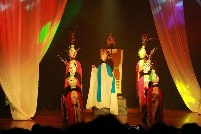 Múa rối 'Thân phận nàng Kiều' trên sân khấu Nhà hát Lớn Hà Nội