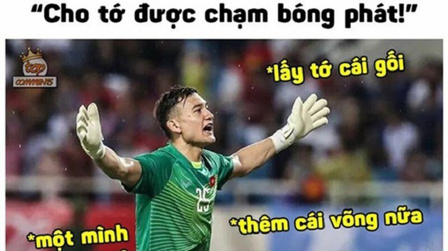 Chết cười với loạt ảnh chế thủ môn Lâm Tây sau trận thắng Lào