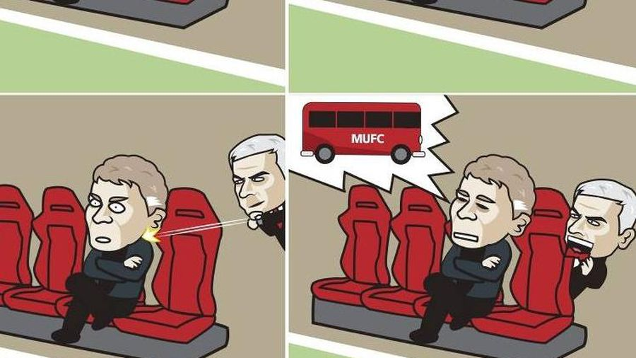 Biếm họa 24h: HLV Solskjaer 'hóa' Mourinho, Messi thăng hoa ở Barca