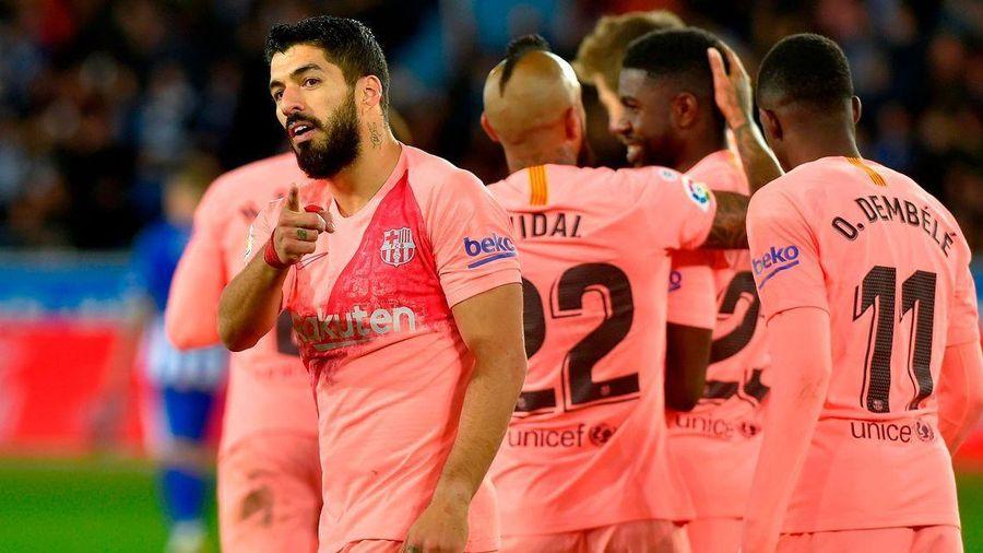 Messi dự bị, Barca thắng nhẹ Alaves, chờ vô địch sớm